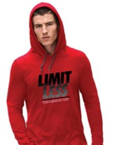 Limitless, Hooded Long Sleeve Shirt, Red, Medium