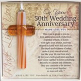On Your 50th Wedding Anniversary Cross Ornament