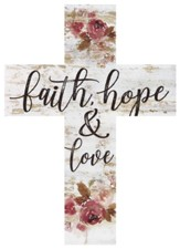 Faith Hope Wood Cross