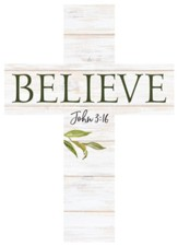 Believe Wood Cross