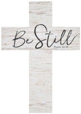 Be Still Wood Cross