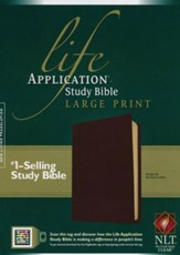 NLT Life Application Study Bible, Large Print Burgundy Bonded Leather - Slightly Imperfect