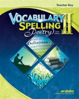 Vocabulary, Spelling & Poetry II Teacher's Key
