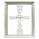 Godmother, You Are Loved, Cross, Framed Art