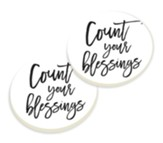 Count Your Blessings Car Coasters, Set of 2