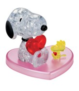 Licensed Snoopy, Heart, Crystal 3D Puzzle
