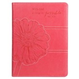 With God, All Things Are Possible Journal, Pink