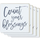 Count Your Blessings, Set of 4 Ceramic Coasters