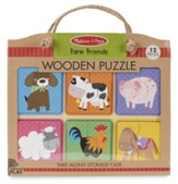 Farm Friends Natural Play Wooden Puzzle