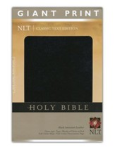 NLT Holy Bible, Giant Print, Black Imitation Leather