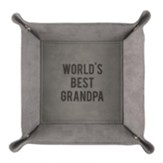 World's Best Grandpa Snap Together Leather Tray