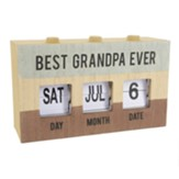 Best Grandpa Ever Perpetual Desk Calendar