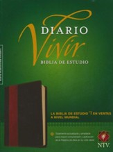 Biblia de Estudio Diario Vivir NTV, SentiPiel Cafe/Cafe Claro  (NTV Life Appl. Study Bible, Soft Leather-Look, Brown/Tan)