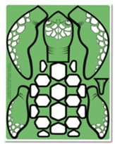 Anchored: Preschool Turtle Craft Pieces (pkg of 10 sheets)