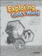 Exploring God's World Quizzes, Tests & Worksheets