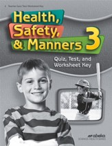 Health, Safety & Manners 3 Quizzes, Tests & Worksheets Key