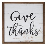 Give Thanks Framed Art
