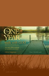The One Year Walk with God Devotional - LeatherLike (repkg)