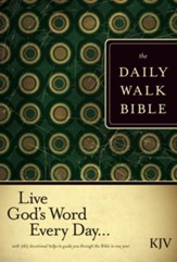 The Daily Walk Bible KJV, Paperback