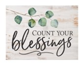 Count Your Blessings Block Art