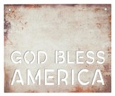God Bless America Faux Metal Sign