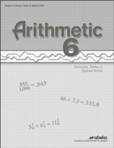 Arithmetic 6 Quizzes, Tests, and  Speed Drills Book (Unbound Edition)