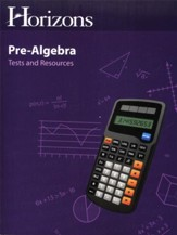 Horizons Pre-Algebra Tests &  Resources Book