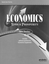 Economics: Work and Prosperity  (Grade 12) Quiz and Test Book Answer Key