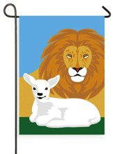 Lion And Lamb, Flag, Small