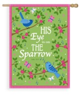 His Eye Is On The Sparrow, Flag, Large