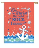 On Christ The Solid Rock I Stand, Flag, Large