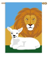 Lion And Lamb, Flag, Large