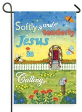 Softly And Tenderly Jesus Is Calling Flag, Small