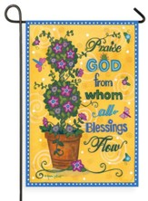 Praise God From Whom All Blessings Flow Flag, Small