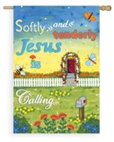 Softly And Tenderly Jesus Is Calling Flag, Large