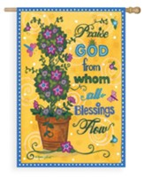 Praise God From Whom All Blessings Flow Flag, Large