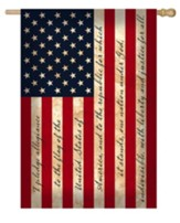 Pledge Of Allegiance U.S. Flag, Large