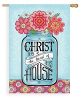 Christ Is The Head Of This House Flag, Large