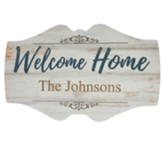 Personalized, Wooden Sign, Welcome Home Family, White