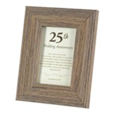 25th Wedding Anniversary Framed Art