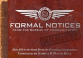 Formal Notices: 50 Fill-in-the Blank Correspondences for Everyday Occasions