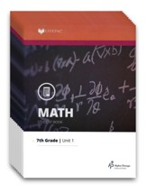 LIFEPAC Math Grade 7 (Pre-Algebra &  Pre-Geometry 1) Workbook  Set (Updated Edition)