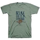 Relax Sloth Shirt, Sagestone, Small