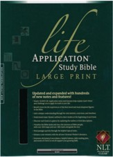 NLT Life Application Study Bible 2nd Edition, Large Print,  Black Bonded Leather, Indexed - Imperfectly Imprinted Bibles
