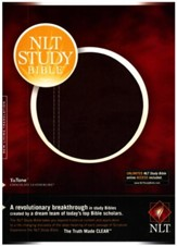 NLT Study Bible, TuTone Leatherlike, Chocolate - Slightly Imperfect