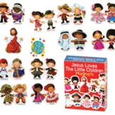 Jesus Loves the Little Children Magnets, Set of 12