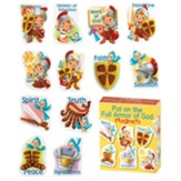 Full Armor of God Magnets, Set of 12