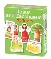 Jesus and Zacchaeus Magnets, Set of 12