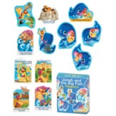 Jonah and the Big Fish Magnets, Set of 12