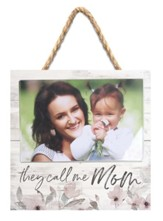 They Call Me Mom Jute Hanging Photo Frame